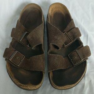 Birkenstocks Brown Suede Sandals, 40